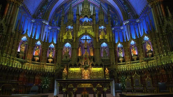 Thumbnail for Notre Dame Basilica sanctuary in Montreal
