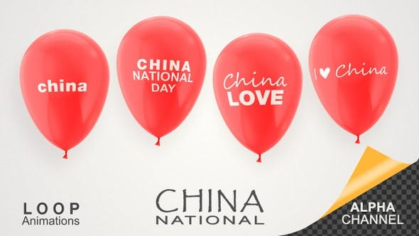 Thumbnail for China National Day Celebration Balloons