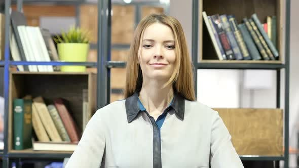 Thumbnail for Agree, Woman Gesture of Yes, Shaking Head, Indoor Office