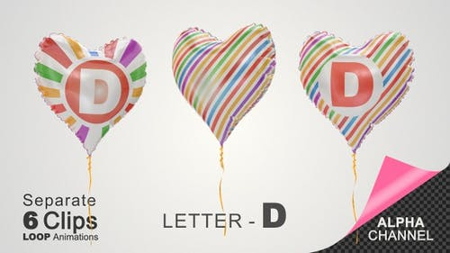 Balloons with Letter - D