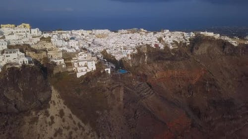 Aerial Panorama of Imerovigli Town, Santorini