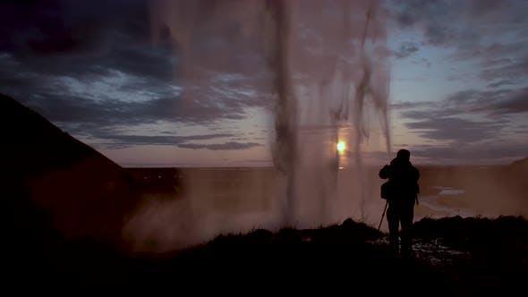 Thumbnail for Seljalandfoss Waterfall in Sunset Time