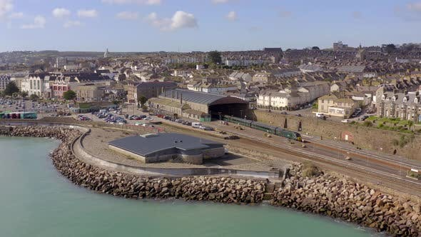 Thumbnail for Penzance Railway Station in Cornwall UK Aerial