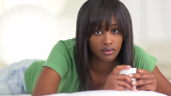 Portrait of serious black woman