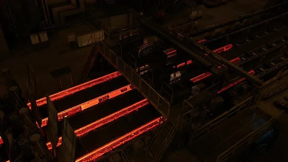 Thumbnail for Steel Mill Plant. Metal Tube Production Line at Metal Factory. Hot Steel Pipe Production Line