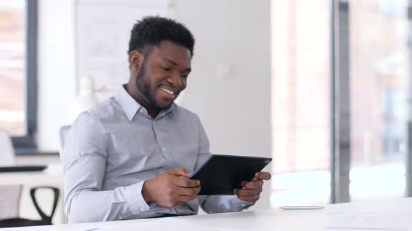Thumbnail for Businessman with Tablet Pc at Office