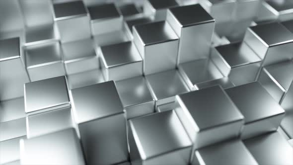 Thumbnail for Abstract Background of Metal Randomly Moving Cubes