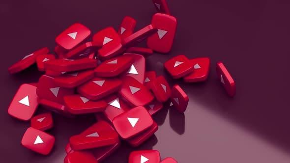 Youtube Falling Icons