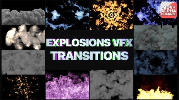 Smoke And Explosions Vfx Transitions | Motion Graphics