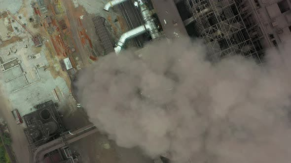 Thumbnail for Industry Pipes Pollute the Atmosphere with Smoke, Ecology Pollution, Smoke Stacks