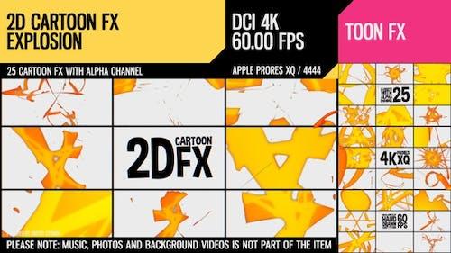 2D Cartoon FX (Explosion Set 14)