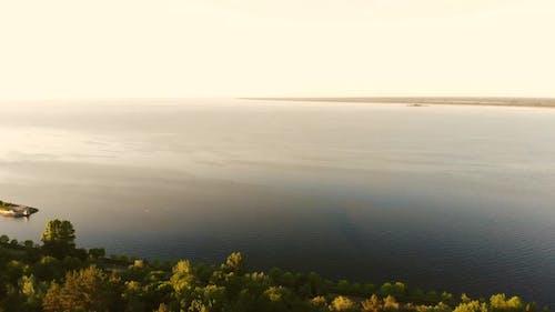 Huge Tranquil Lake Landscape