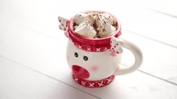 Thumbnail for Tasty Homemade Christmas Hot Chocolate or Cocoa with Marshmellows
