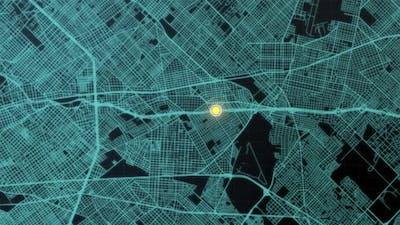 Futuristic Digital City Map GPS 03