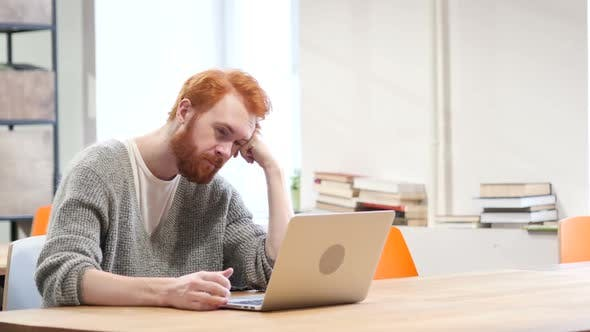 Thumbnail for Man Sleeping at Work, Laptop