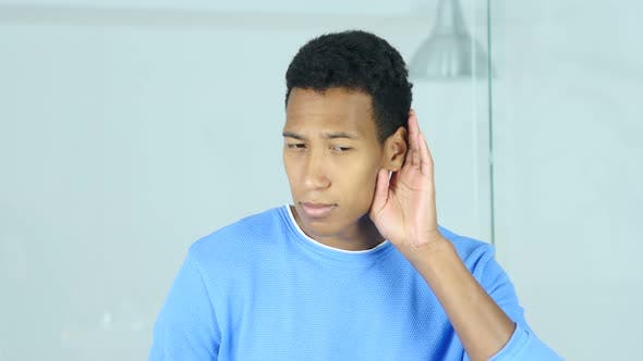 Thumbnail for Young Afro-American Man Listening Secret Carefully