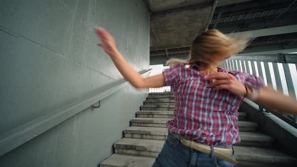 Thumbnail for Girl Dancing Energetically, Urban Style
