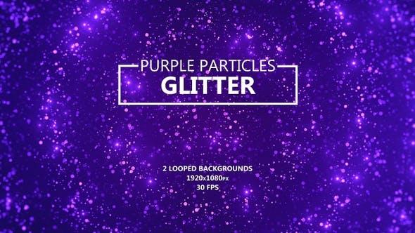 Thumbnail for Lila Glitzerpartikel
