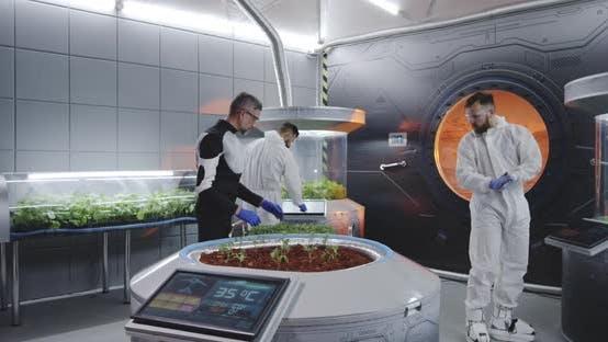 Thumbnail for Scientist Planting Seedlings on Martian Base