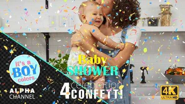 Thumbnail for Baby Shower Celebrations - Boy Colors Confetti