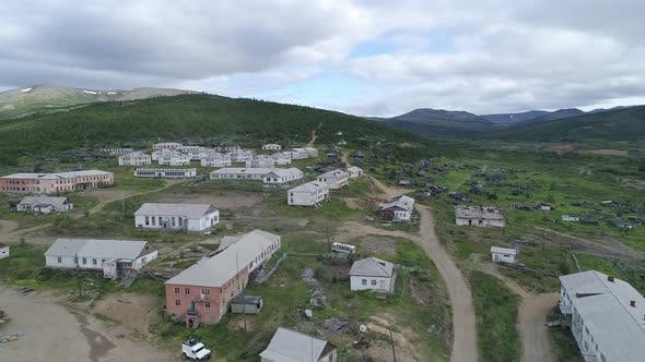 Thumbnail for Aerial view of abandoned village in Chukotka.