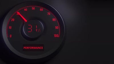 Red and Black Performance Meter or Indicator