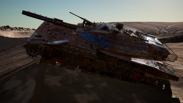 Thumbnail for Old Rusty Tank in Desert