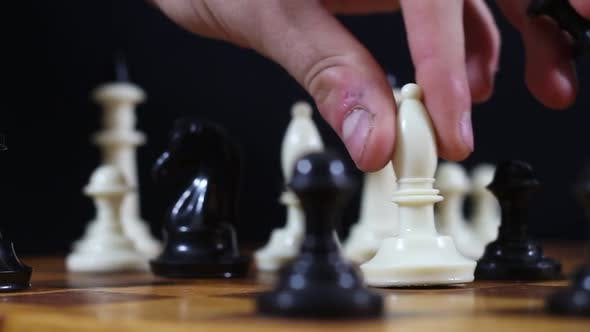 Thumbnail for White Officer Wins The Black Queen On A Chessboard