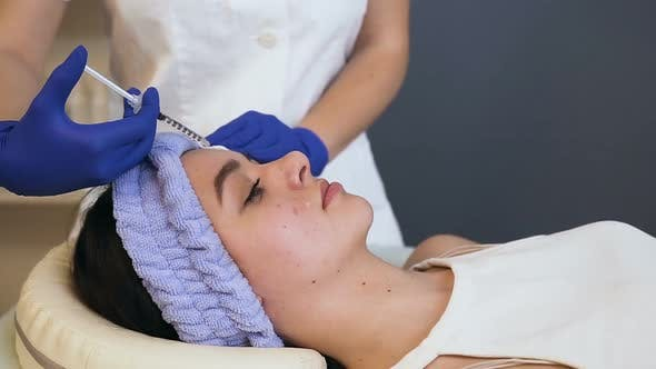 Thumbnail for Attractive Young Woman in the Beauty Clinic