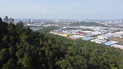 Aerial view industrial park
