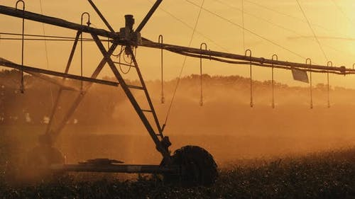 Cornfield Irrigation Using the Center Pivot Sprinkler System