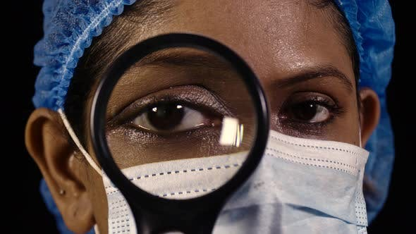 Thumbnail for Nurse with Magnifying Glass