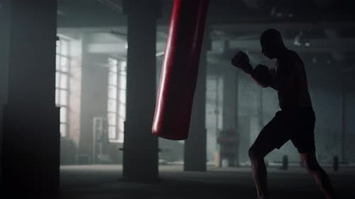 Sportsman Doing Intensity Training