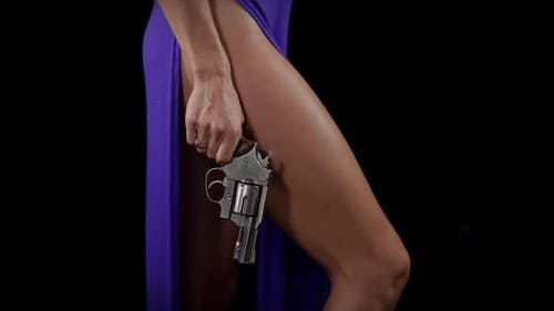 Sexy woman with a handgun