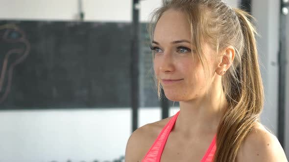 Thumbnail for Portrait Attractive Fitness Woman in a Gym