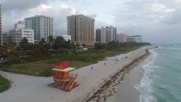 Lifeguard Tower Miami Beach Aerial