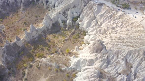 Amazing day landscape at Love valley in Cappadocia, Goreme, Turkey