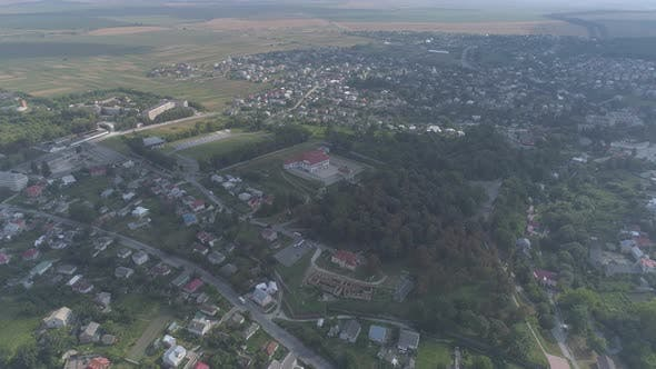 Aerial view of the Ternopil region
