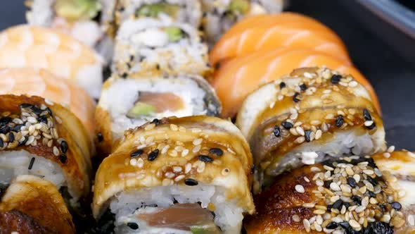 Thumbnail for Delicious Tasty Sushi Rolls in Variety
