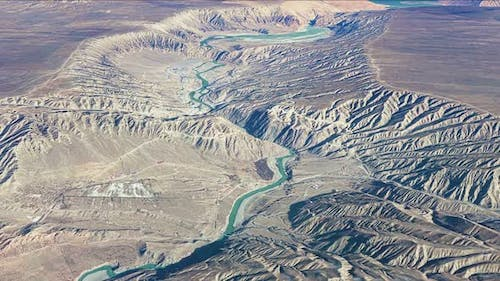River And Mountains Aerial