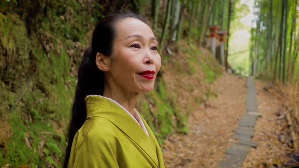 Thumbnail for Japanese woman in Kyoto Japan