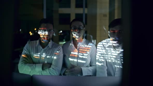 Cover Image for Cyber Security Team Working in Office at Night