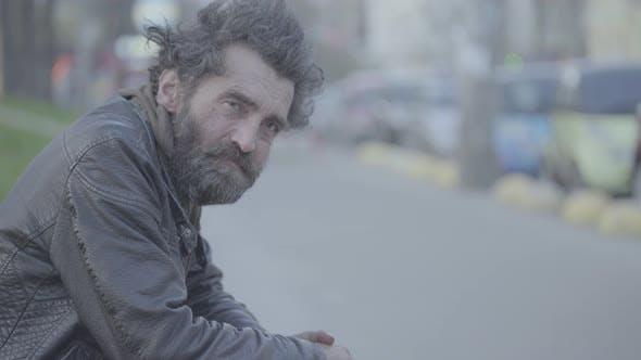 Thumbnail for Beggar Homeless Man Tramp. Poverty. Vagrancy. Kyiv. Ukraine.