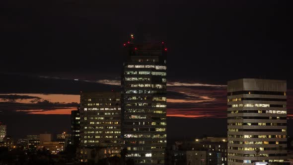 Thumbnail for Dramatic Night Clouds Over Los Angeles