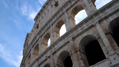 Rome Colosseum Close Up View in Rome  Italy