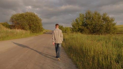 Outdoor Activities Travel Concept Man in Nature