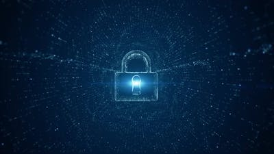 Lock Icon Of Cyber Security