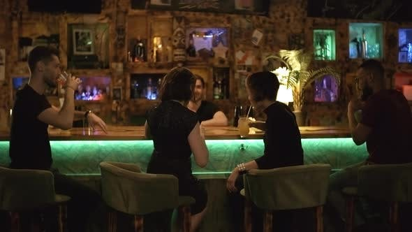 Cover Image for Group of Friends Enjoying Time at Bar