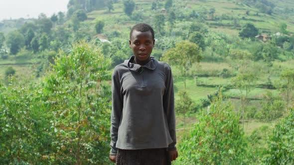 Young woman in Uganda