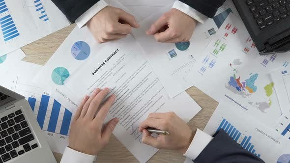 Thumbnail for Company Partner Signing Business Contract and Shaking Hands With Director